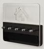 Bluewud Wenge & Clear Acrylic & MDF Amadour Wall Key Chain Holder Rack