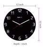 Bluewud Black Acrylic 12 Inch Round Nicholas Laser Cut Wall Clock