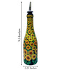 Bottles Not Empty Sunflowers Multicolour 375 ML Oil Dispenser