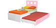 Boston Single Bed in Pink & White Color by Alex Daisy