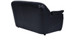 Boston Two Seater  Sofa in Black Leatherette by Furny