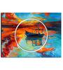 Hashtag Decor Boat Engineered Wood 27 x 20 Inch Framed Art Panel