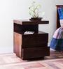 Oakville Solid Wood Bedside Table in Provincial Teak Finish by Woodsworth