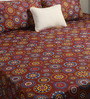Bombay Dyeing Brown Poly Cotton Queen Size Bedsheet - Set of 3