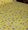 Bombay Dyeing Yellows Nature & Florals Poly Cotton Queen Size Bed Sheets - Set of 3