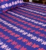 Bombay Dyeing Blue Poly Cotton Floral Double Bed Sheet (with Pillow Cover) - Set of 3