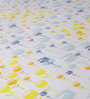 Bombay Dyeing Yellow Cotton Floral Double Bed Sheet (with Pillow Cover) - Set of 3
