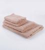 Bombay Dyeing Brown Cotton Bath Towel - Set of 4