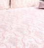 Bombay Dyeing Pink Cotton King Size Bedsheet - Set of 3