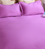 Bombay Dyeing Violets Cotton Queen Size Bedsheet - Set of 3