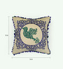 Bombay Mill Multicolour Cotton 16 x 16 Inch Bird Embroidery Cushion Cover