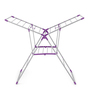 Bonita Geant Plastic Purple & Silver Clothes Drying Stand