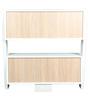 Book Shelf cum Display Unit in White Finish by Arancia Mobel