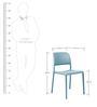 Nardi Bora Bistrot Chair in Celeste Finish by Patios