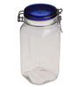 Bormioli Rocco Fido Blue Lid Glass 1.5 L Jar - Set of 2