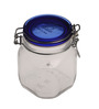 Bormioli Rocco Fido Blue Lid Glass 750 ML Jar - Set of 2