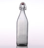 Bormioli Rocco Giara Grigio Grey Glass 1 L Bottle - Set of 2