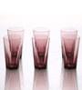 Bormioli Rocco Hya Purple 380 ML Highball Whisky Glasses - Set of 6