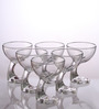 Bormioli Rocco Jerba Transparent Glass 345 ML Ice Cream Bowl - Set Of 6