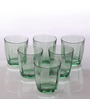 Bormioli Rocco Pulsar Green Glass 305 ML Water Tumbler - Set Of 6