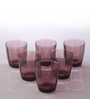 Bormioli Rocco Pulsar Purple Glass 305 ML Water Tumbler - Set Of 6