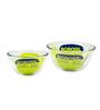 Borosil Borosilicate Glass Mixing Bowl - Set of 2