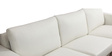 Brosery L Shape Sofa in Off White Colour by Madesos