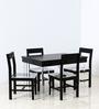 Brady Four Seater Dining Set in Espresso Walnut Finish by Woodsworth