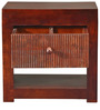 Brava Bed Side Table in Warm Rich Finish by Inliving