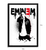 Bravado Fibre with Wood Texture 13 x 19 Inch Eminem Graffiti Framed Posters