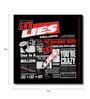 Bravado Multicolour Fibre Board Guns N Roses Gnr Lies Fridge Magnet