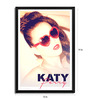 Bravado Fibre with Wood Texture 13 x 19 Inch Katy Perry in Sunglasses Framed Posters