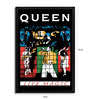 Bravado Fibre with Wood Texture 13 x 19 Inch Queen Live Magic Framed Posters