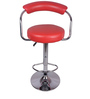 Brazos Red Color Metal Bar Chair by VJ Interior
