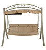 Breeze Swing with Canopy with Cream Upholstery by Royal Oak