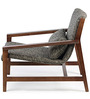 Bridgeport Arm Chair in Charcoal Grey Colour by HomeHQ