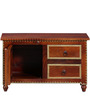 Advara Cabinet with Brass Repousse Work by Mudramark