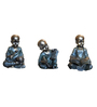 Browse House Bronze & Dark Green Polyresin Baby Monk Figurine - Set of 3