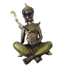 Browse House Bronze & Green Polyresin Musical Buddha