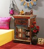 Adele Bedside Table in Distress Finish by Bohemiana