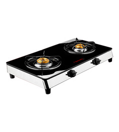 Butterfly Reflection 2 Burner Auto Ignition Glass Cooktop