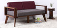 Cheney Two Seater Sofa in Provincial Teak Finish by Woodsworth