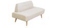 Camilia Two Seater Sofa in Beige Colour by CasaCraft