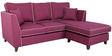Carmelo LHS Two Seater Sofa with Lounger in Maroon Colour by Urban Living