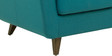Castello Three Seater Sofa in Tampa Teal Colour by CasaCraft