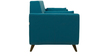 Castello Two Seater Sofa in Tampa Teal Colour by CasaCraft
