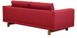 Catalunya Three Seater Sofa in Carmine Colour by Casacraft