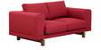 Catalunya Two Seater Sofa in Carmine Colour by Casacraft