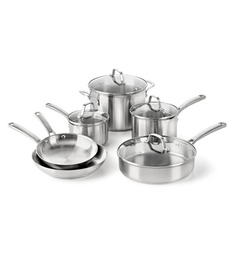 Calphalon Stainless Steel Classic Cookware Set - Set Of 6