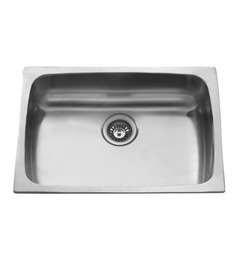 Carysil Elegance Matt Stainless Steel Single Bowl Kitchen Sink - 30x18x9